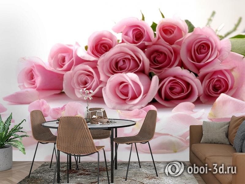 3D Фотообои  «Чайные розы»  вид 2