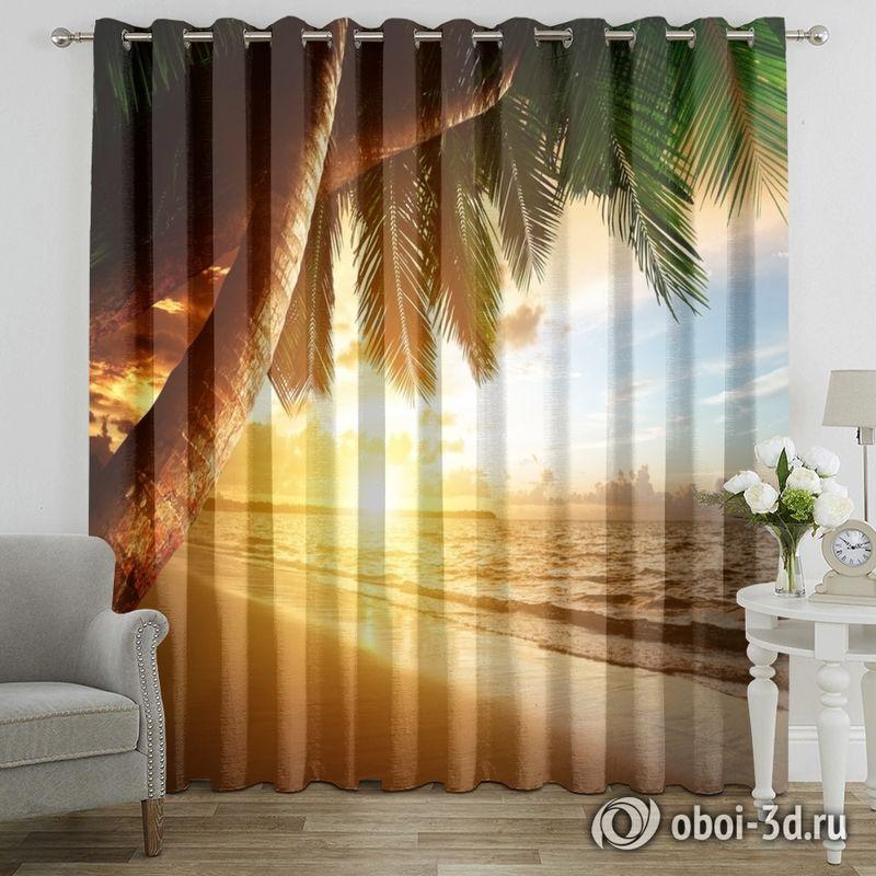 Фотошторы «Закат под пальмами» вид 7