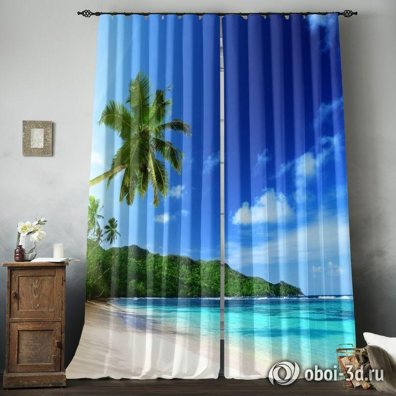 Фотошторы «Пальма на пляже» вид 8