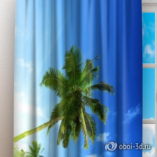 Фотошторы «Пальма на пляже» вид 3