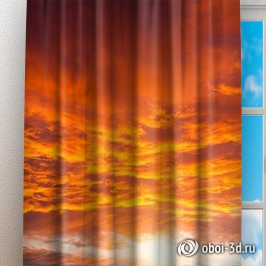 Фотошторы «Бордовый закат» вид 3