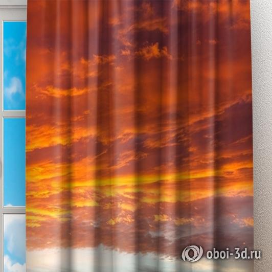 Фотошторы «Бордовый закат» вид 2
