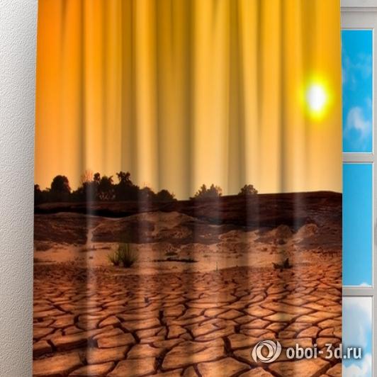 Фотошторы «Засушливая пустыня» вид 3