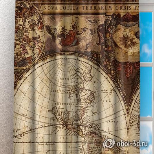 Фотошторы «Карта мира» вид 3