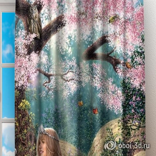 Фотошторы «Принцесса в цветущем саду» вид 2