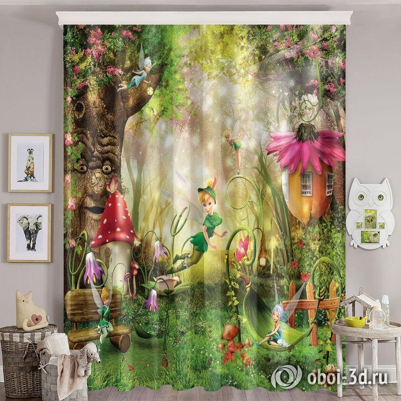 Фотошторы «Феечки в сказочном лесу» вид 8