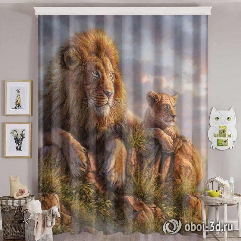 Фотошторы «Величественные львы» вид 8