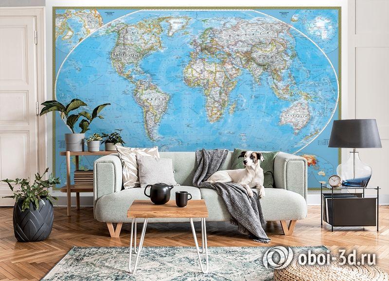 3D Фотообои  «Политическая карта мира»  вид 8