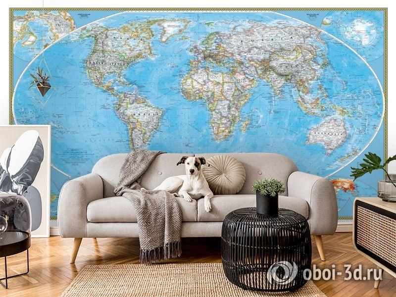 3D Фотообои  «Политическая карта мира»  вид 6