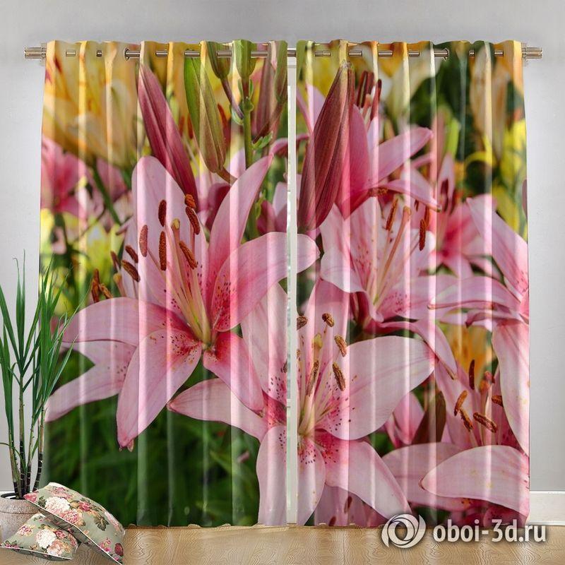 Фотошторы «Нежно-розовые лилии» вид 4