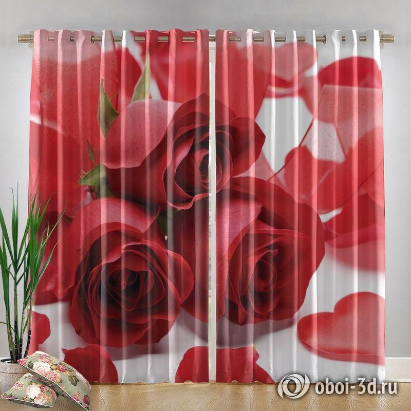 Фотошторы «Композиция с алыми розами» вид 4