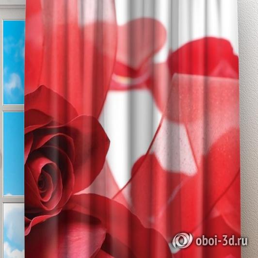 Фотошторы «Композиция с алыми розами» вид 2