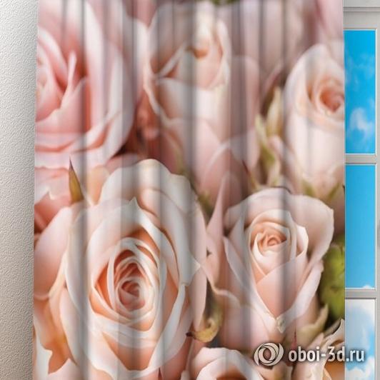 Фотошторы «Кремовые розы» вид 3