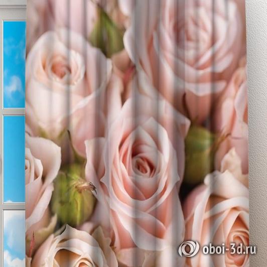 Фотошторы «Кремовые розы» вид 2