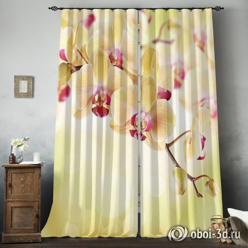 Фотошторы «Желтая орхидея» вид 8