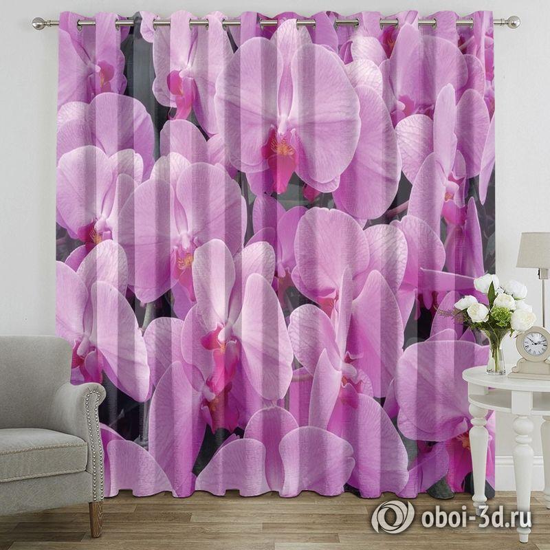 Фотошторы «Ковер из розовых орхидей» вид 7