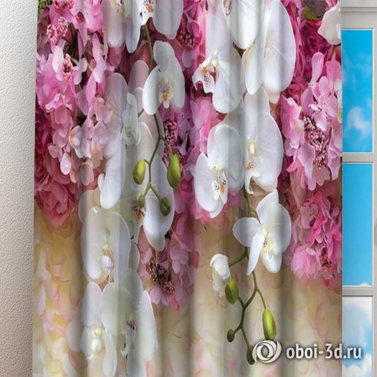 Фотошторы «Ниспадающие орхидеи» вид 3