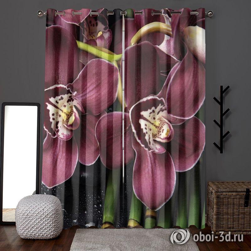 Фотошторы «Орхидеи и капли воды» вид 6