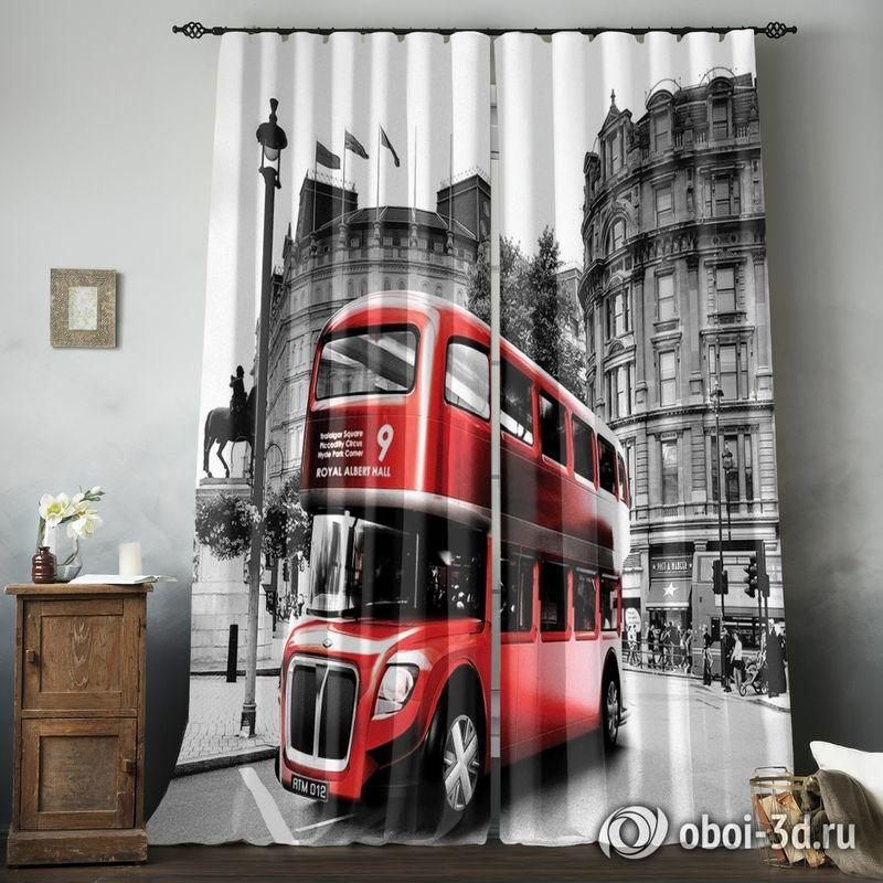 Фотошторы «Красный автобус» вид 8