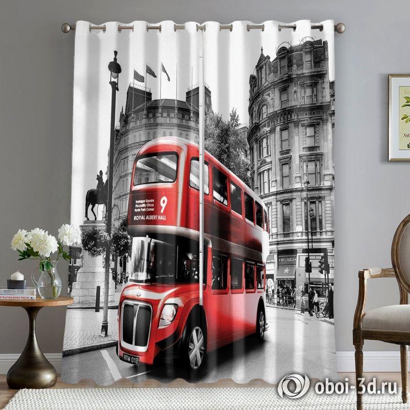 Фотошторы «Красный автобус» вид 5