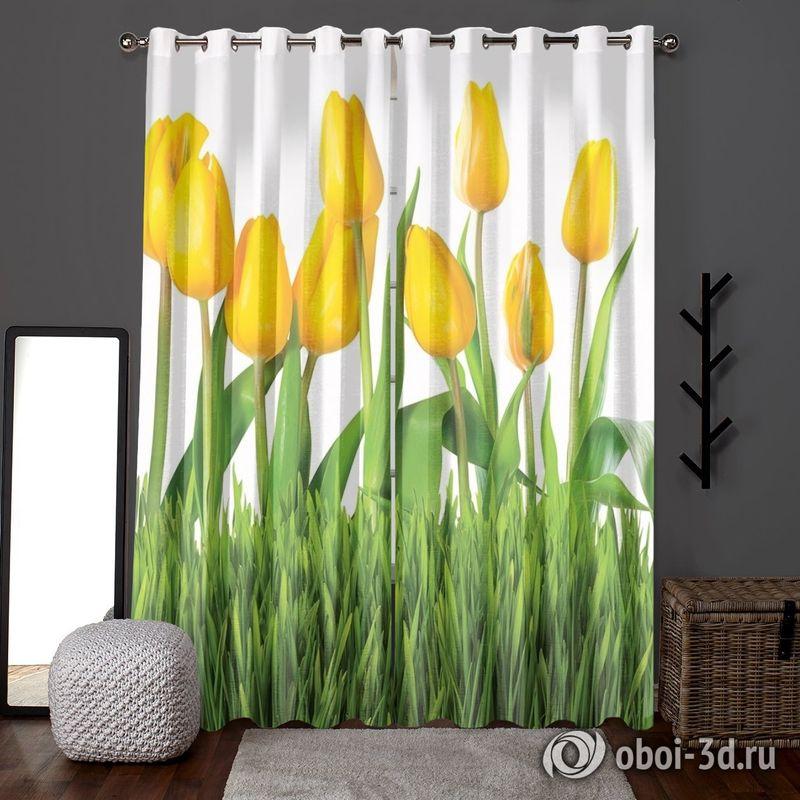 Фотошторы «Желтые тюльпаны» вид 6