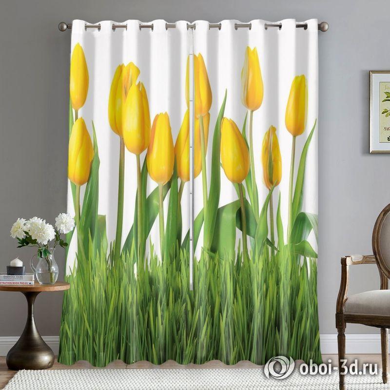 Фотошторы «Желтые тюльпаны» вид 5