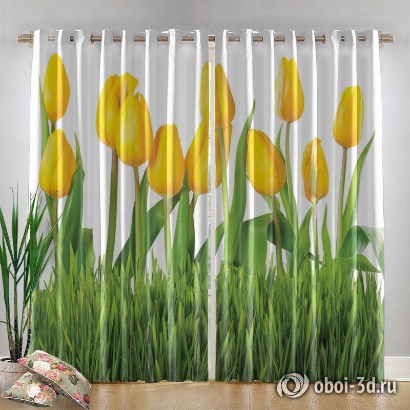 Фотошторы «Желтые тюльпаны» вид 4
