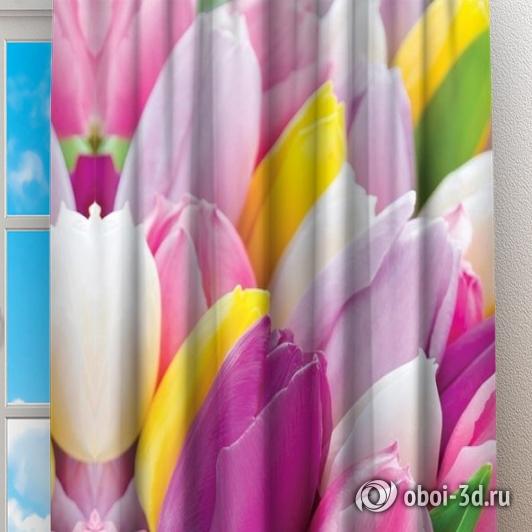 Фотошторы «Разнообразие тюльпанов» вид 2