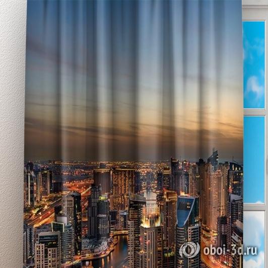 Фотошторы «Ночной Дубай» вид 3
