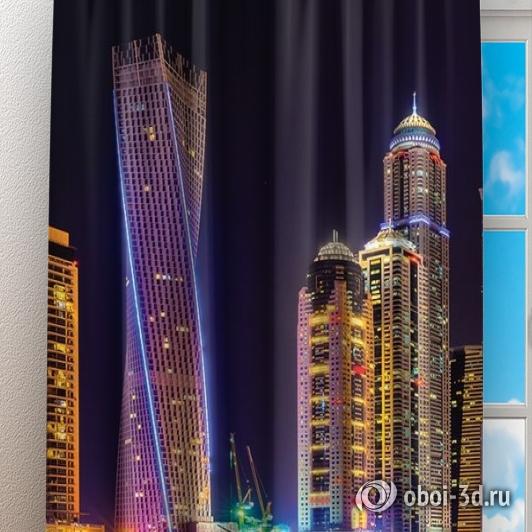 Фотошторы «Огни Дубая» вид 3