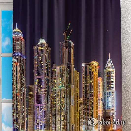 Фотошторы «Огни Дубая» вид 2