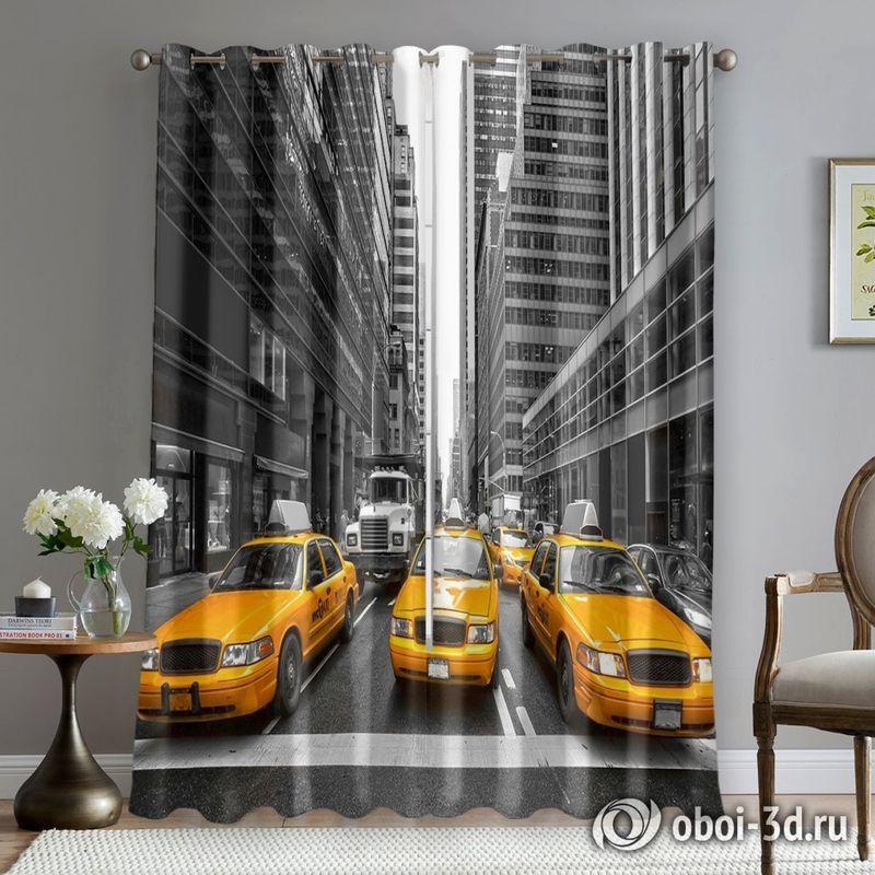Фотошторы «Такси Нью-Йорка» вид 5