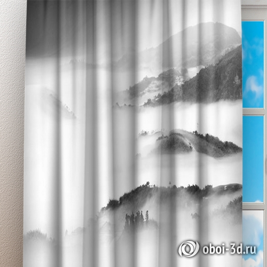 Фотошторы «Туманный пейзаж» вид 3