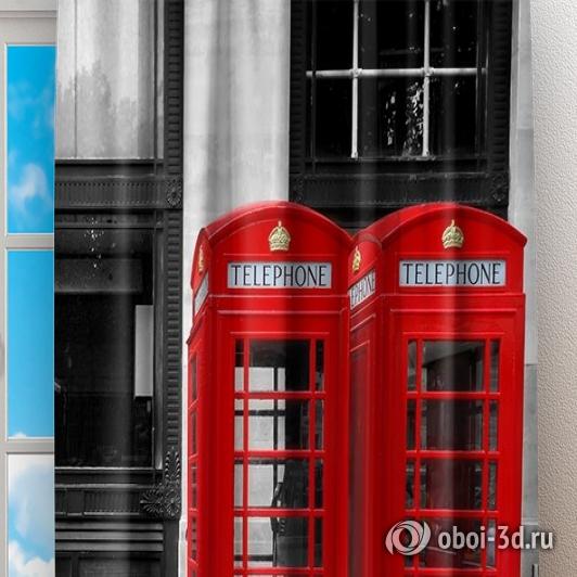 Фотошторы «Телефонные будки» вид 2