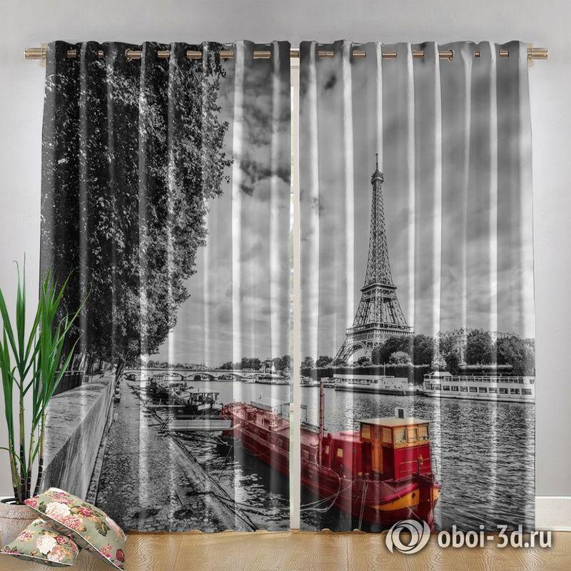 Фотошторы «Эйфелева башня у реки» вид 4