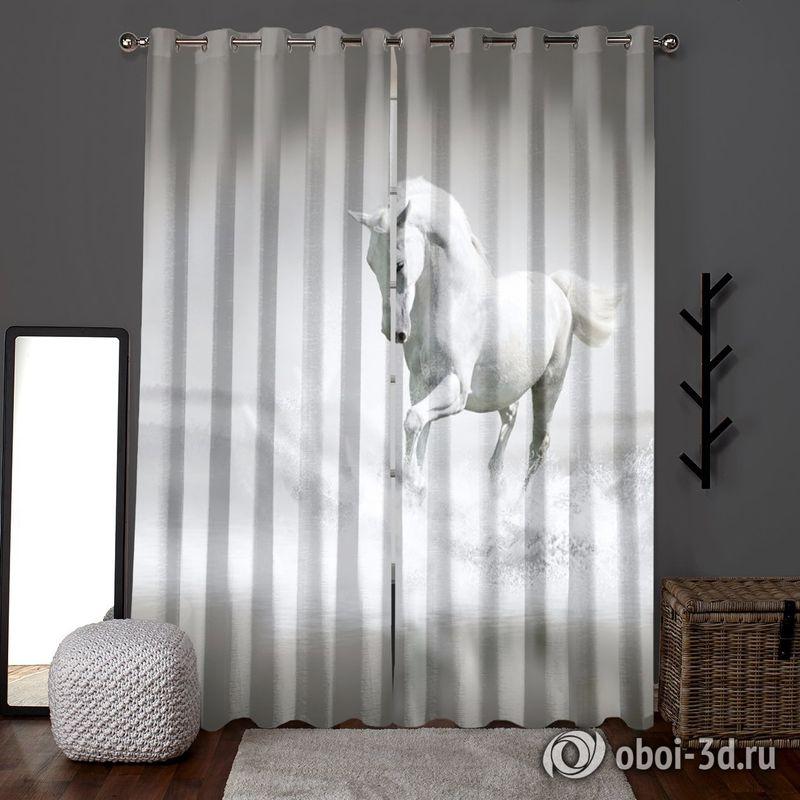 Фотошторы «Белый конь бегущий по воде» вид 6
