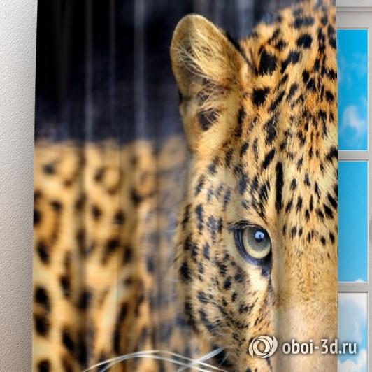 Фотошторы «Красивый леопард» вид 3