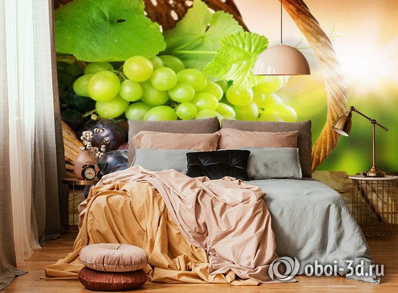 3D Фотообои  «Грозди винограда»  вид 5