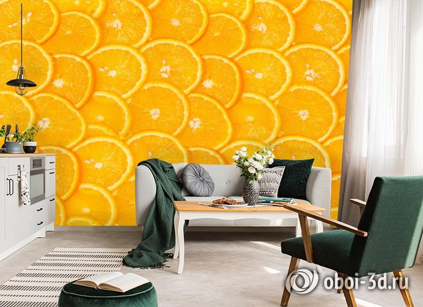3D Фотообои  «Дольки апельсина»  вид 7