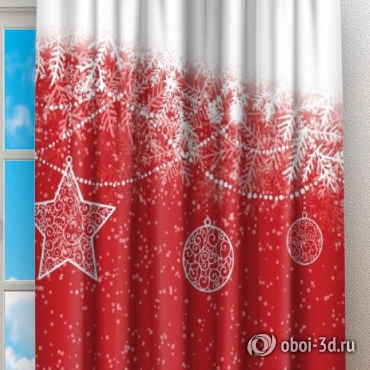 Фотошторы «Рождественский узор» вид 2