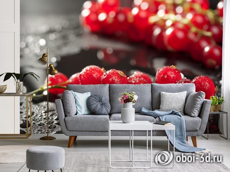 3D Фотообои  «Красная смородина»  вид 3