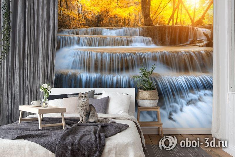 3D Фотообои  «Водопад на рассвете» вид 7