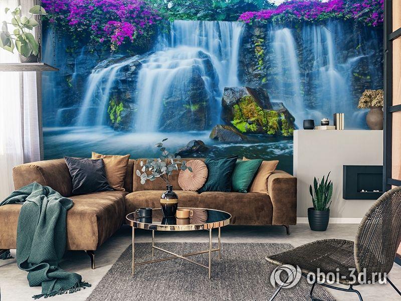 3D Фотообои  «Горный водопад»  вид 2