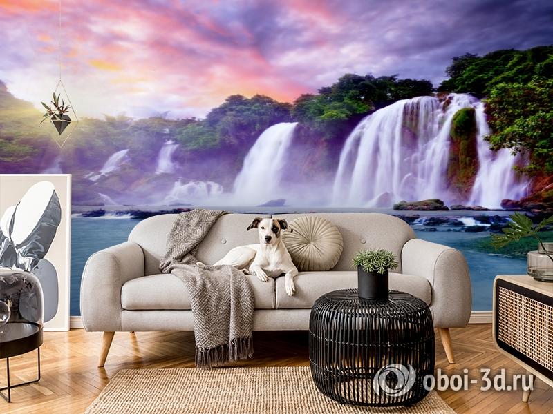 3D Фотообои  «Лазурный водопад» вид 5