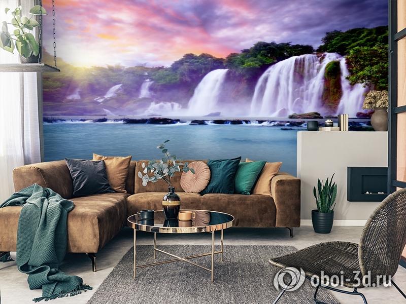 3D Фотообои  «Лазурный водопад» вид 2