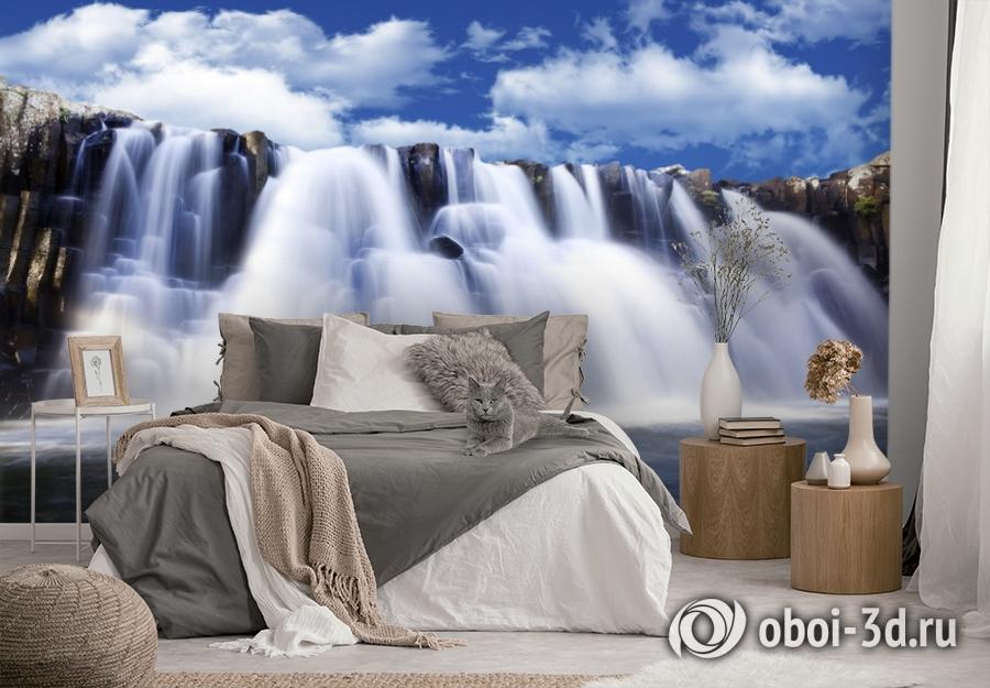 3D Фотообои  «Водопад»  вид 3