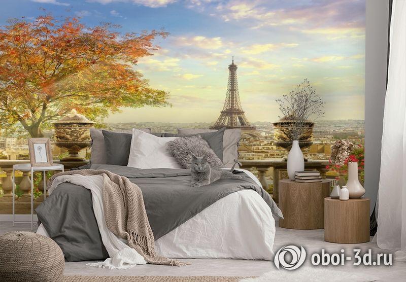 3D Фотообои  «Фреска Париж»  вид 2