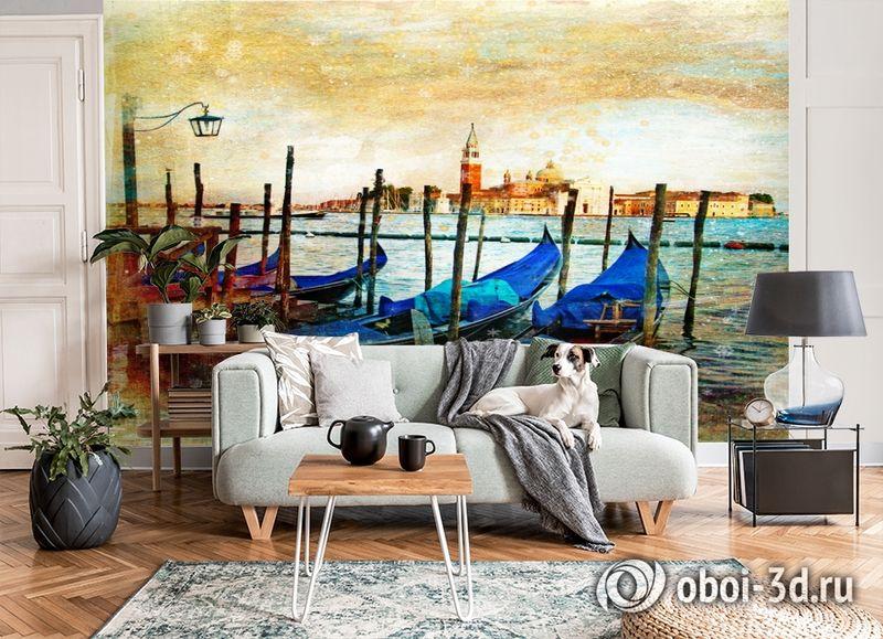 3D Фотообои  «Фреска Венеция» вид 6