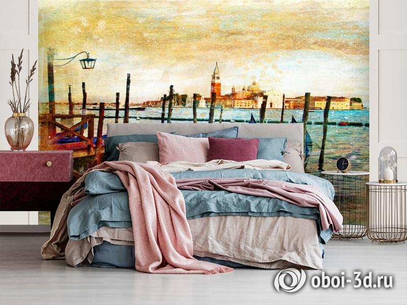 3D Фотообои  «Фреска Венеция» вид 3
