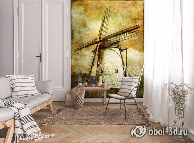 3D Фотообои  «Фреска мельница»  вид 9